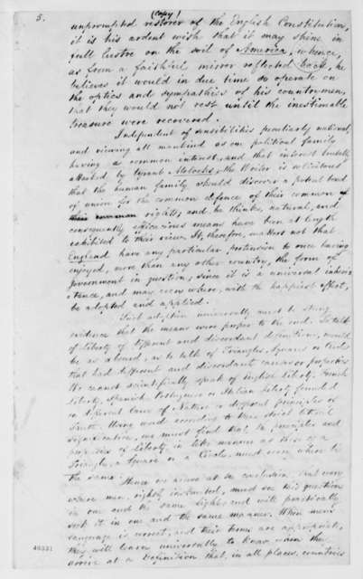 John Cartwright to John Quincy Adams, February 29, 1824, with Note