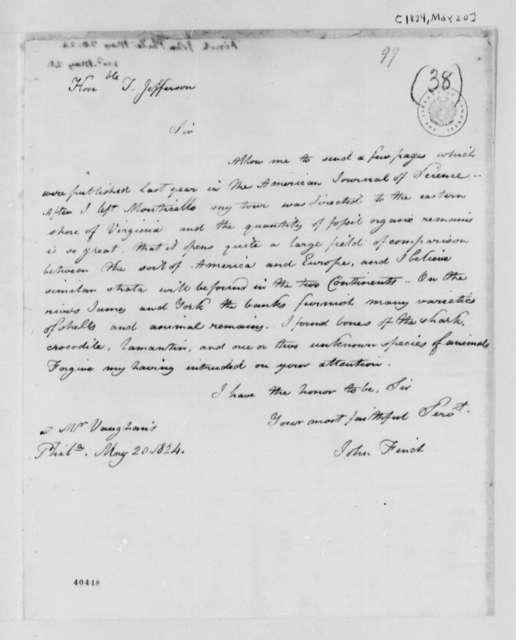 John Finch to Thomas Jefferson, May 20, 1824