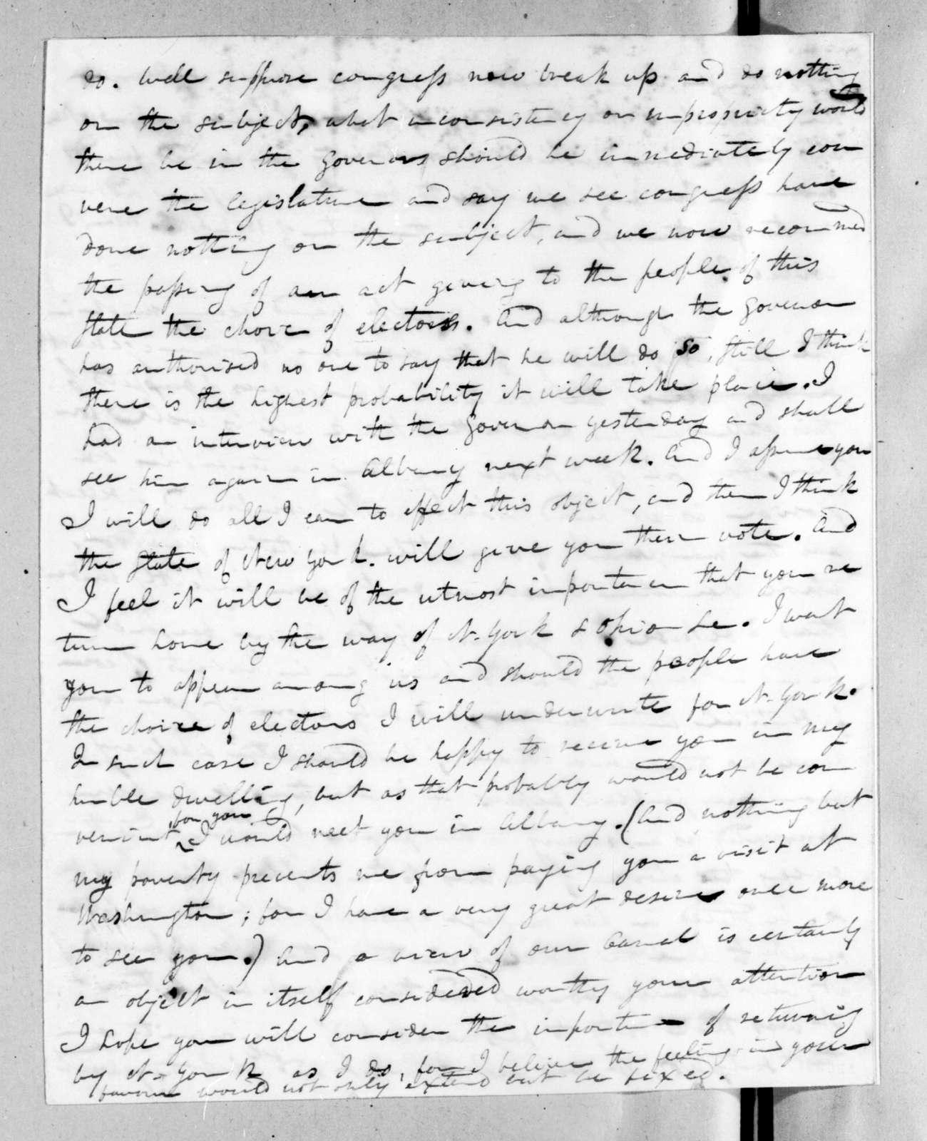 John Freeman Schermerhorn to Andrew Jackson, May 14, 1824