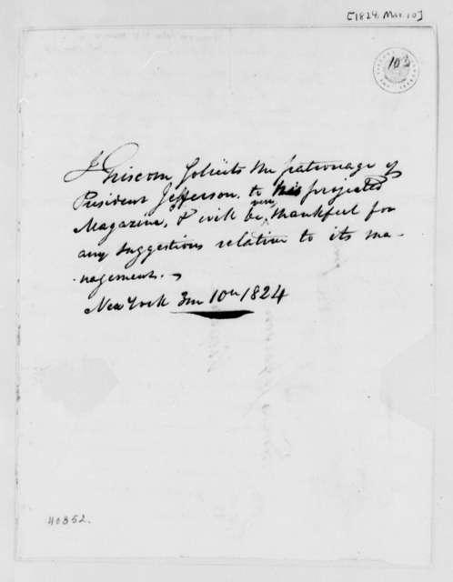 John Griscom to Thomas Jefferson, March 10, 1824