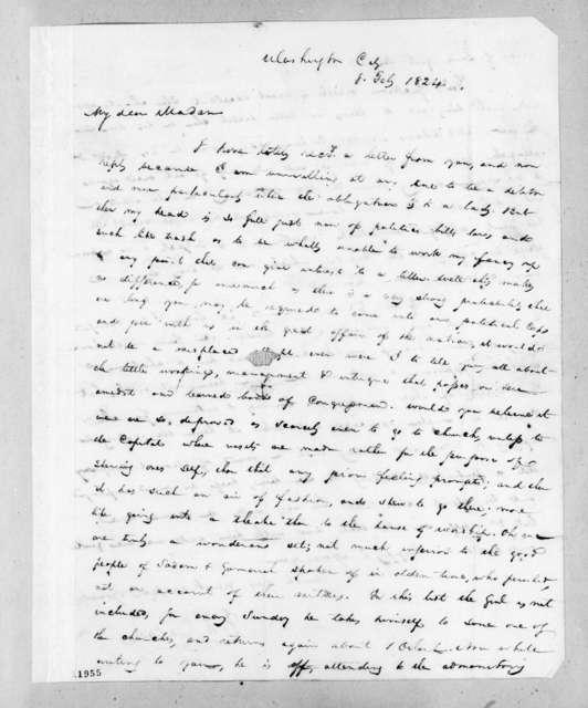 John Henry Eaton to Rachel Donelson Jackson, February 8, 1824