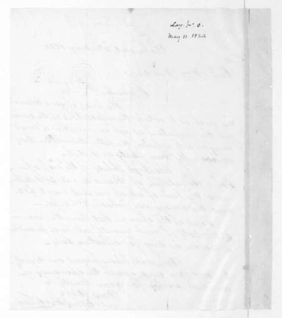 John O. Lay to James Madison, May 11, 1824.