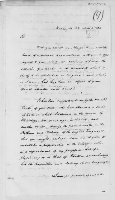 Jonathan Barber to Thomas Jefferson, May 6, 1824