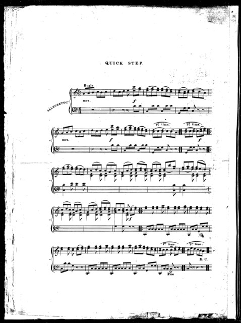 La  Fayette's welcome to the United States in 1824, a grand march and quick step for the piano forte