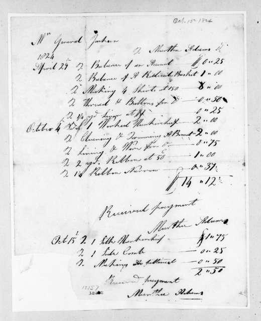 N. Adams to Andrew Jackson, October 15, 1824