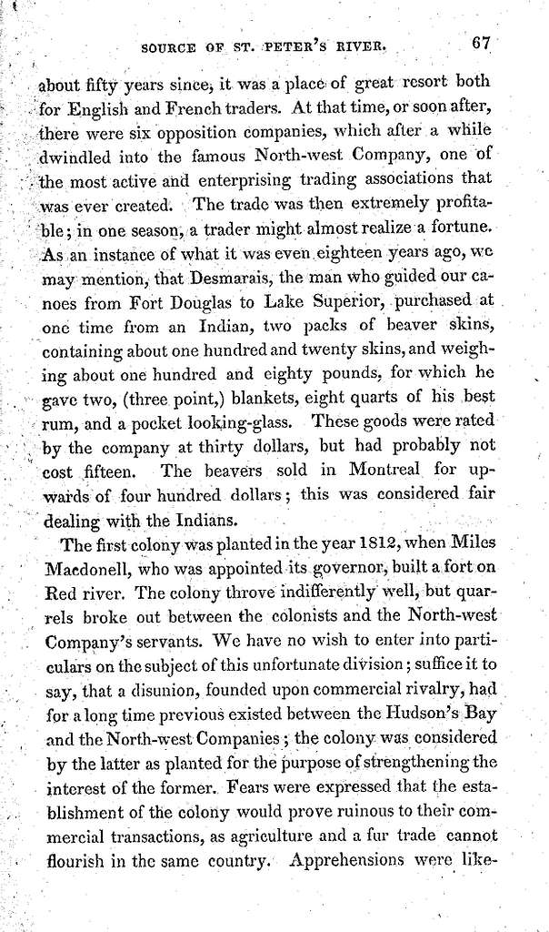 Narrative of an expedition to the source of St. Peter's River, Lake Winnepeck, Lake of the Woods, &c. &c. performed in the year 1823, by order of the Hon. J.C. Calhoun, Secretary of War, under the command of Stephen H. Long, Major, U.S.T.E