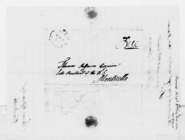 Philip Ignatius Barziza to Thomas Jefferson, March 10, 1824
