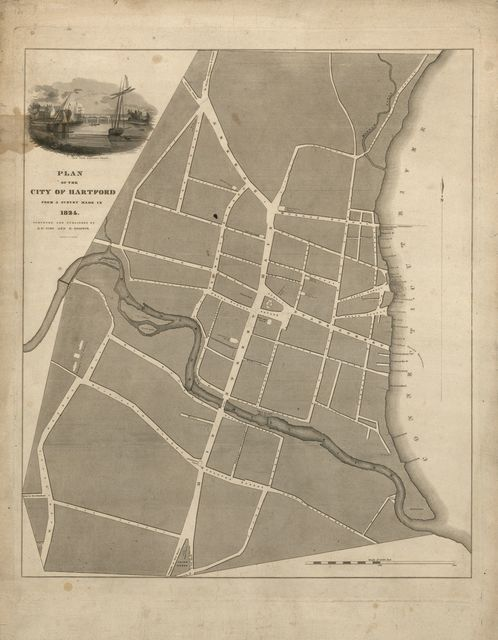 Plan of the city of Hartford : from a survey made in 1824 /