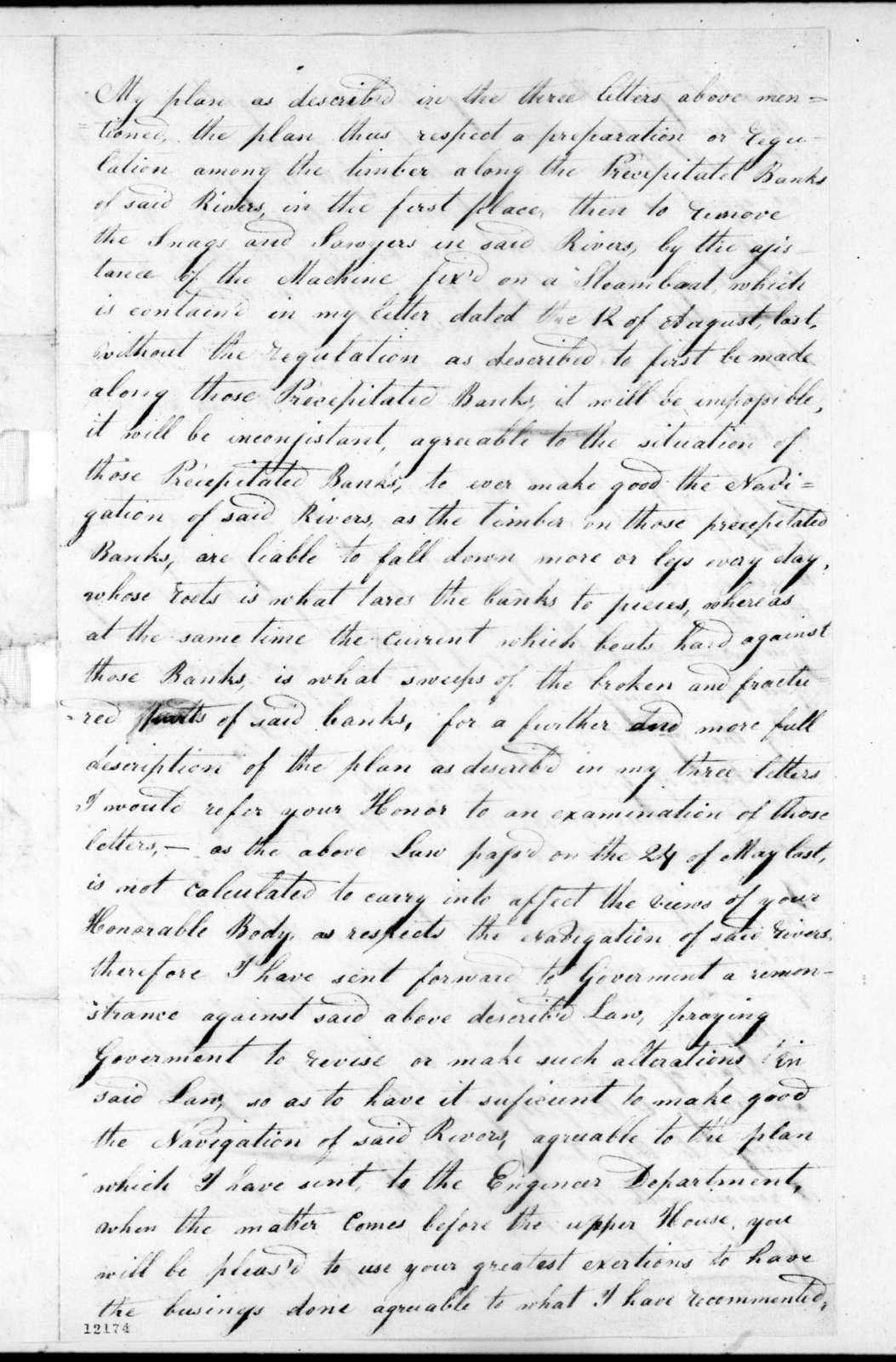 Reuben A. Carter to Andrew Jackson, November 15, 1824