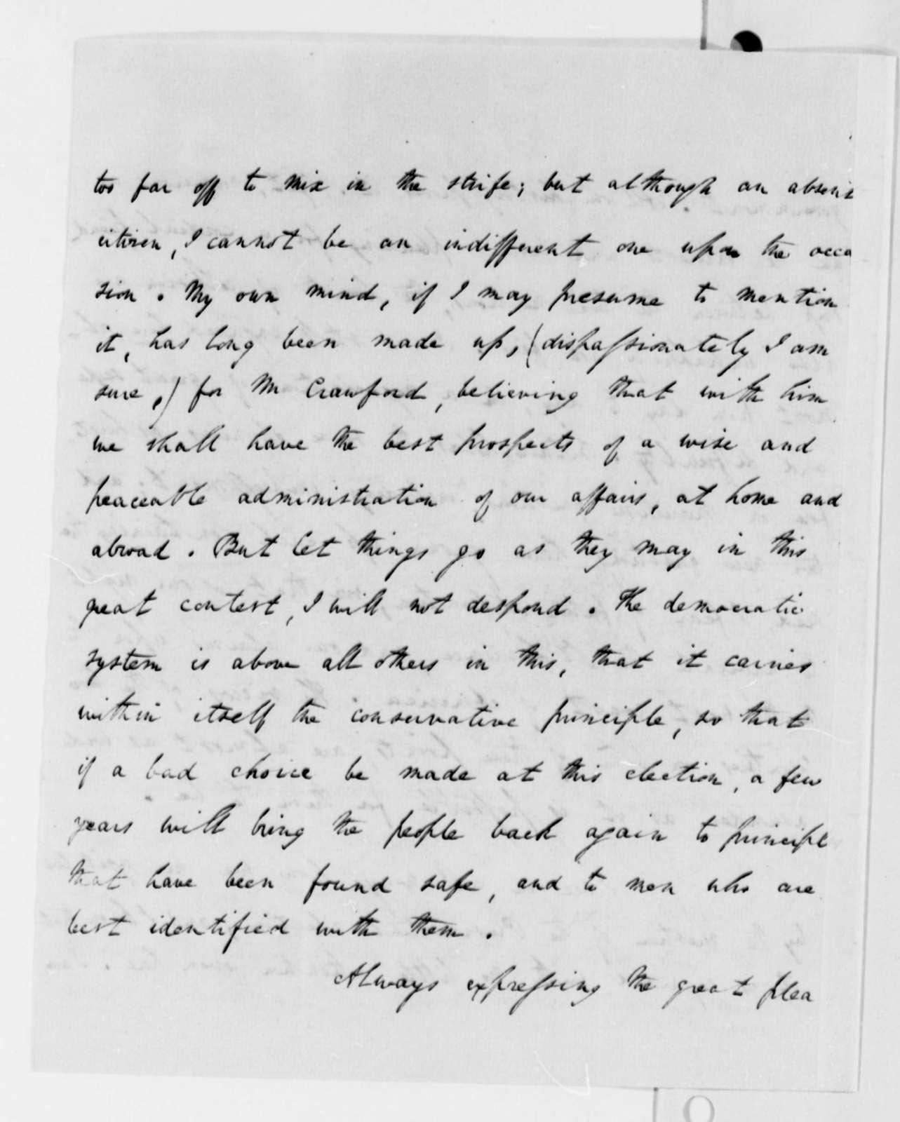 Richard Rush to Thomas Jefferson, July 17, 1824