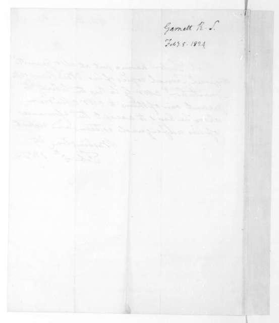 Robert S. Garnett to James Madison, February 5, 1824.
