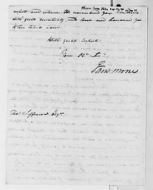 Samuel Moore to Thomas Jefferson, September 21, 1824
