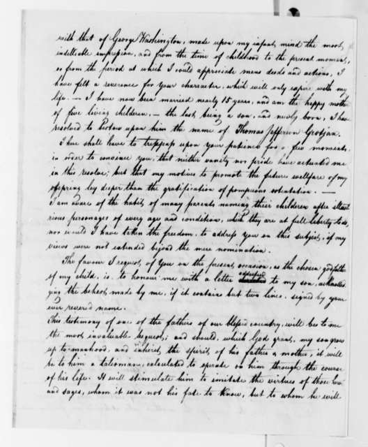 Sarah Grotjan to Thomas Jefferson, January 1, 1824