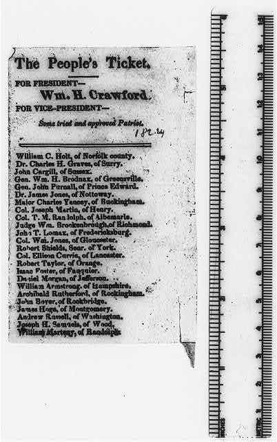 The People's Ticket, for President - Wm. H. Crawford ...