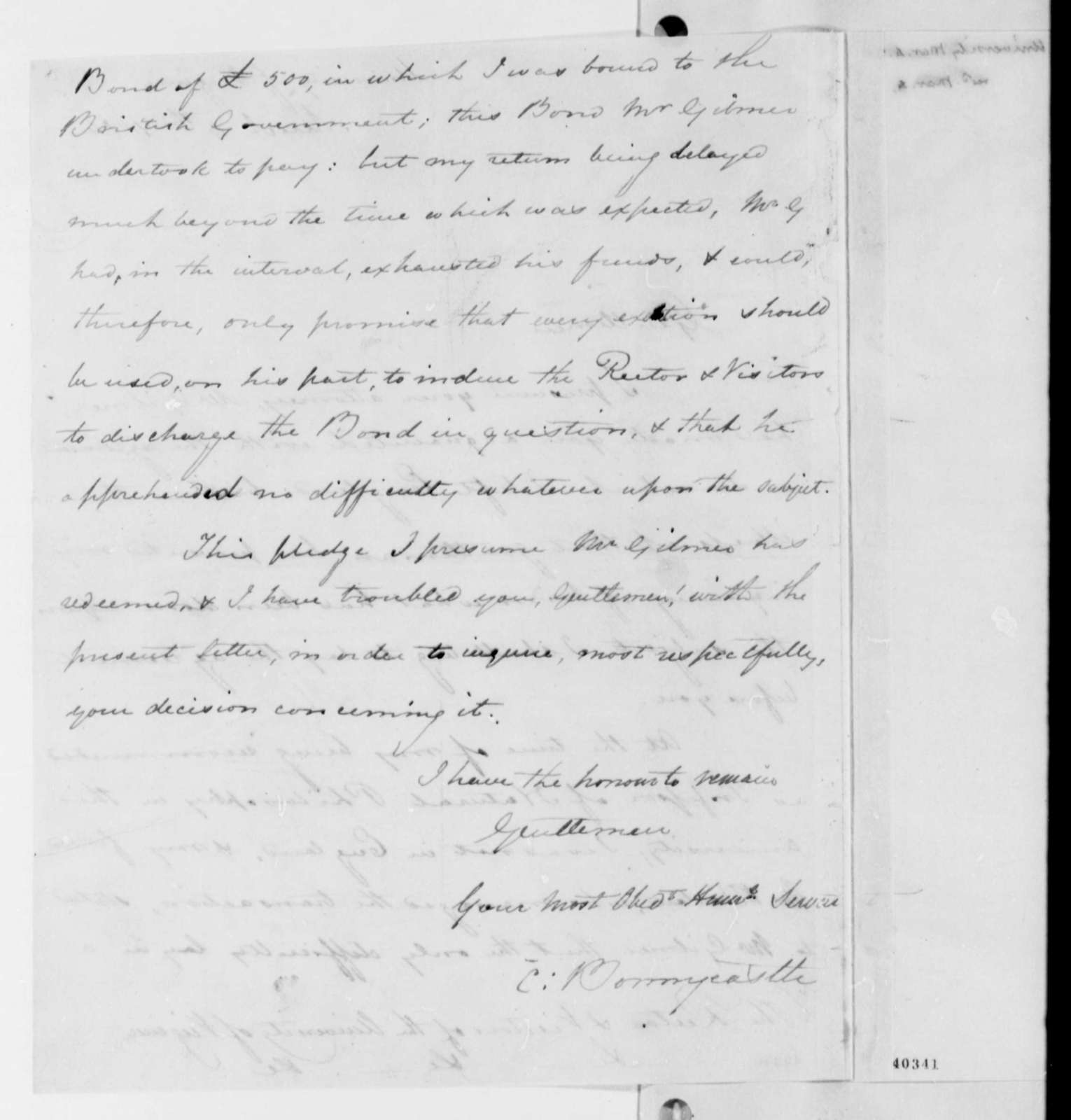 Thomas Jefferson to Charles Bonnycastle, March 4, 1824