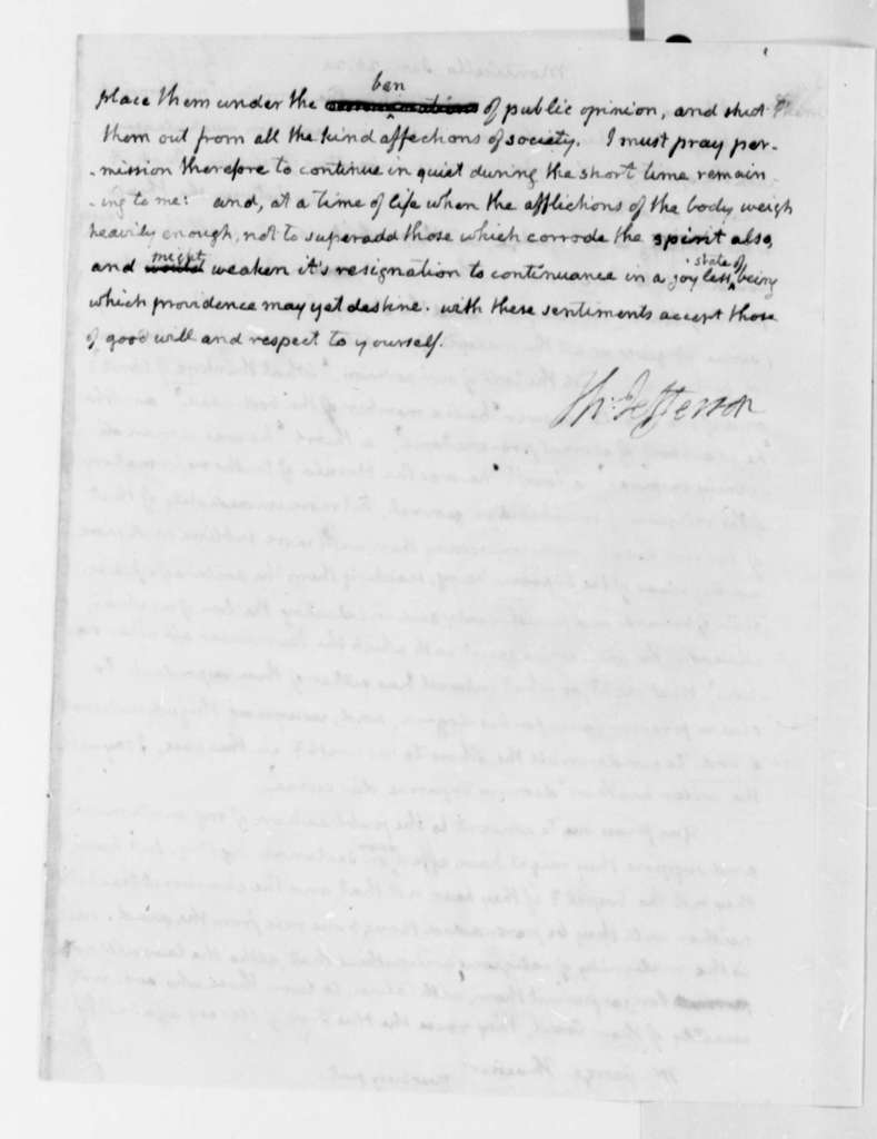 Thomas Jefferson to George Thacher, January 26, 1824