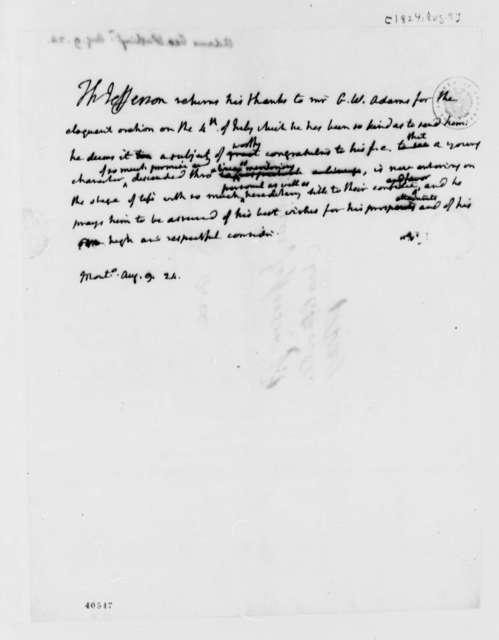 Thomas Jefferson to George Washington Adams, August 9, 1824