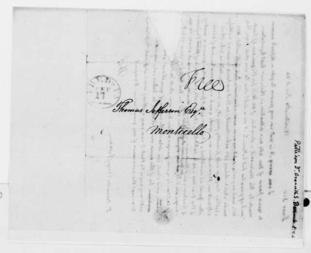 Thomas Jefferson to Granville Charp Pattison, December 8, 1824