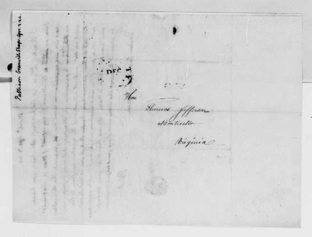 Thomas Jefferson to Granville Sharp Pattison, April 3, 1824