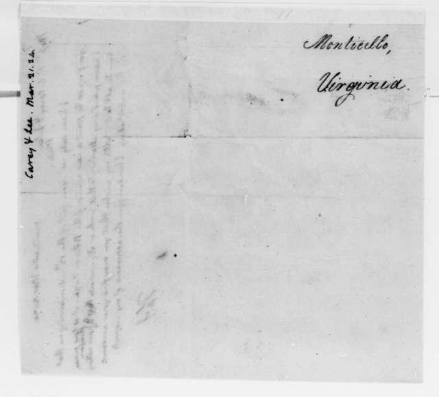 Thomas Jefferson to H. C. & Lea J. Carey, March 21, 1824