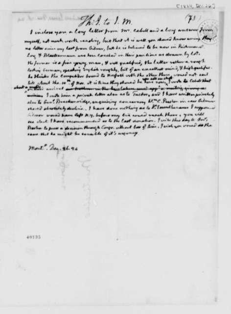 Thomas Jefferson to James Madison, December 26, 1824