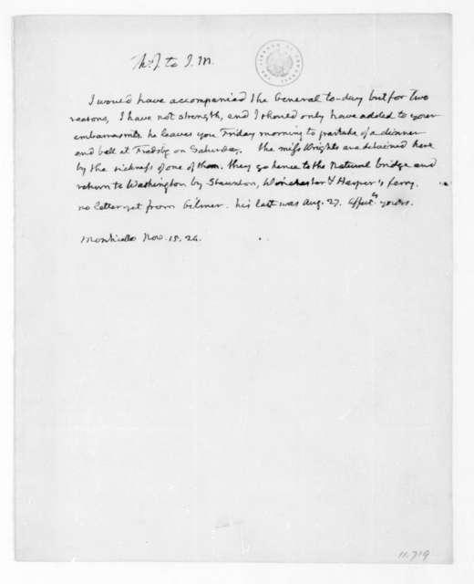 Thomas Jefferson to James Madison, November 15, 1824.