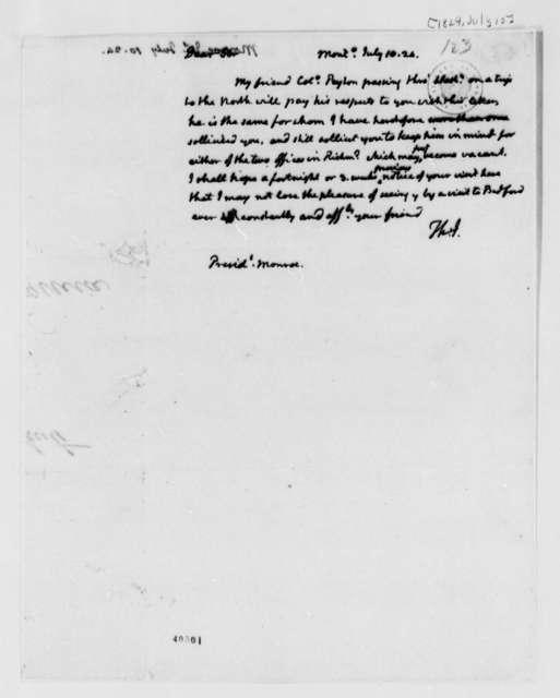 Thomas Jefferson to James Monroe, July 10, 1824