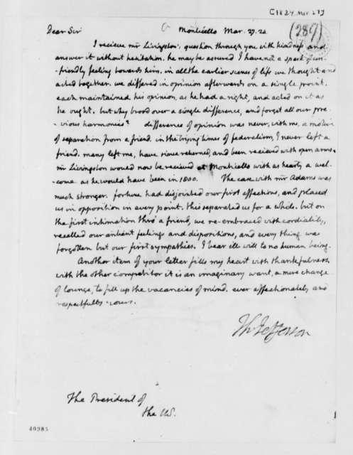 Thomas Jefferson to James Monroe, March 27, 1824