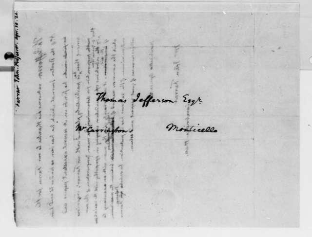 Thomas Jefferson to John Farrar, April 10, 1824