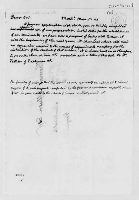 Thomas Jefferson to John Griscom, March 12, 1824