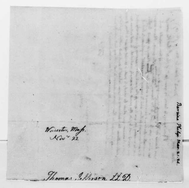 Thomas Jefferson to Philip Ignatius Barziza, March 21, 1824