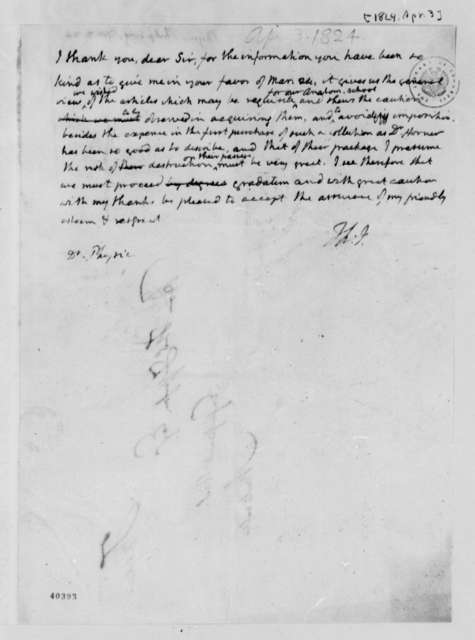 Thomas Jefferson to Philip Syng Physick, April 3, 1824