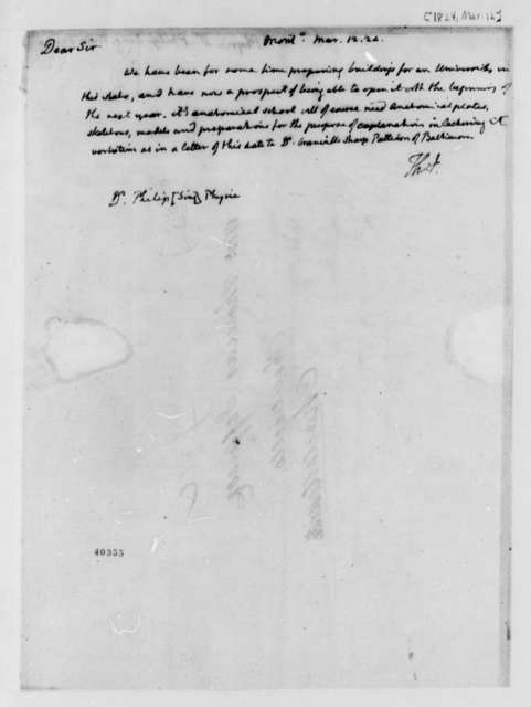 Thomas Jefferson to Philip Syng Physick, March 12, 1824