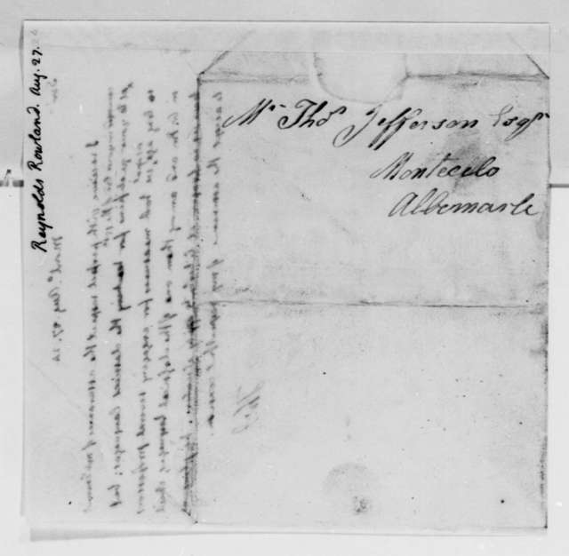 Thomas Jefferson to Rowland Reynolds, August 27, 1824