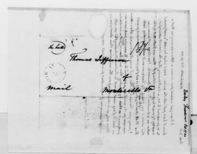 Thomas Jefferson to Theodorus Bailey, October 17, 1824