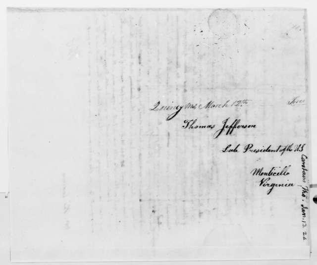 Thomas Jefferson to Thomas Carstairs, January 13, 1824