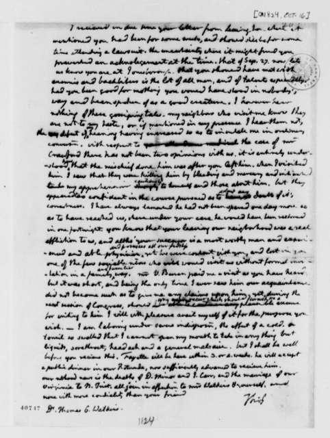 Thomas Jefferson to Thomas G. Watkins, October 16, 1824