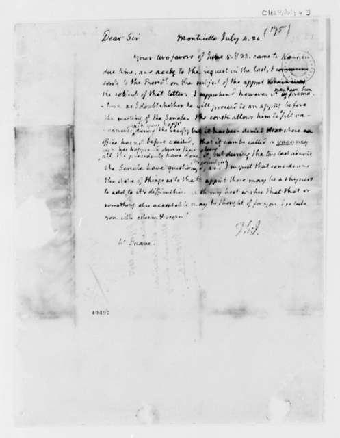 Thomas Jefferson to William Duane, July 4, 1824