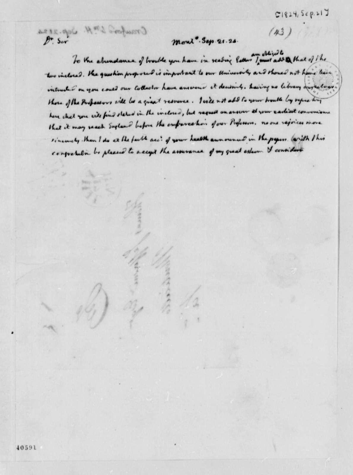 Thomas Jefferson to William H. Crawford, September 21, 1824