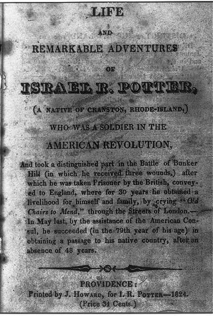 [Title page - no illus. - from Life and remarkable adventures of Israel R. Potter, Providence, 1824]