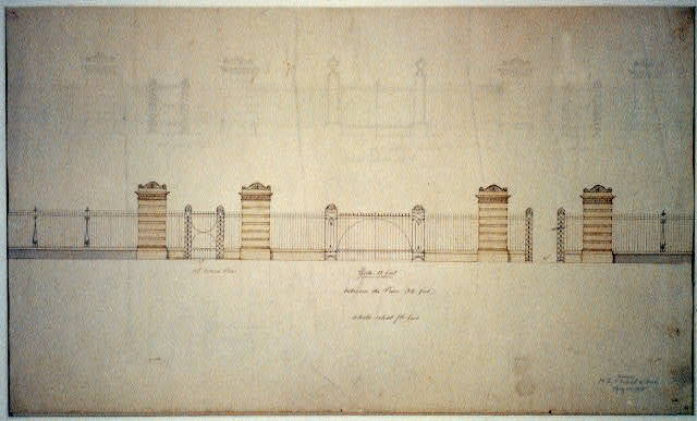 [United States Capitol grounds, Washington, D.C. Elevations of fence and gate]