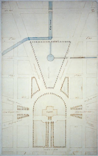 [United States Capitol grounds, Washington, D.C. Site plan, botanic garden, city canal]
