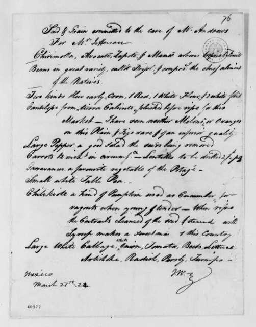 Unknown to Thomas Jefferson, March 21, 1824