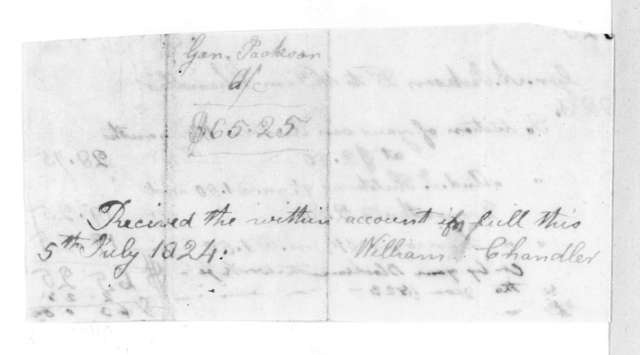William Chandler to Andrew Jackson, July 5, 1824