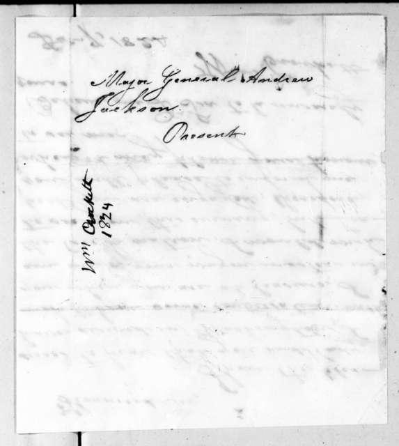 William Crockett to Andrew Jackson, December 7, 1824