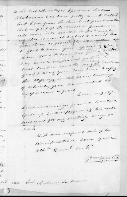 William Martin to Andrew Jackson, September 9, 1824