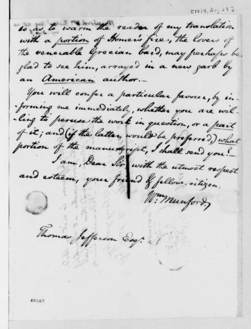 William Mumford to Thomas Jefferson, August 28, 1824
