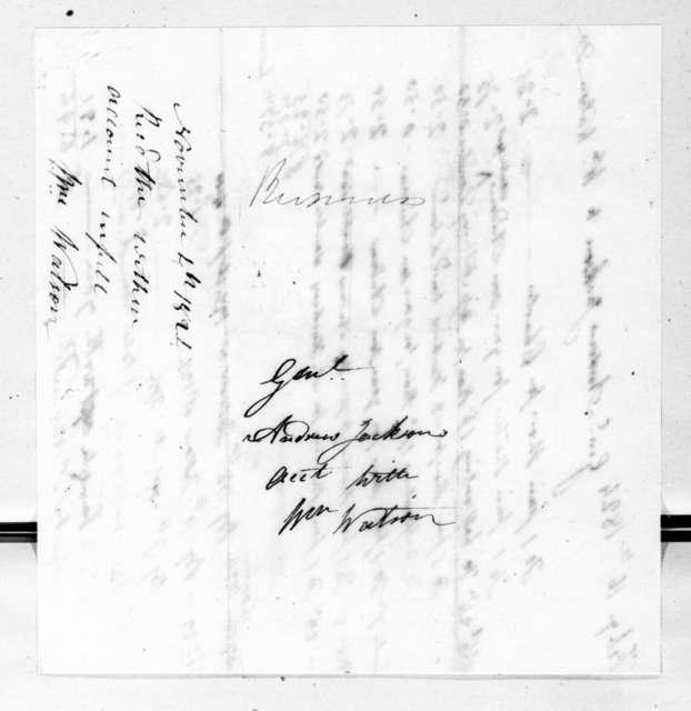 William Watson to Andrew Jackson, November 6, 1824