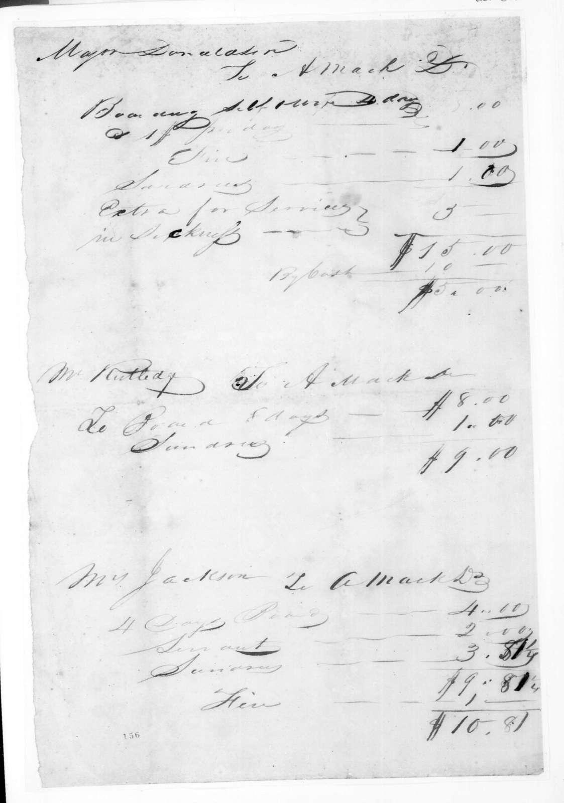 A. Mack to Andrew Jackson Donelson et al., April 8, 1825