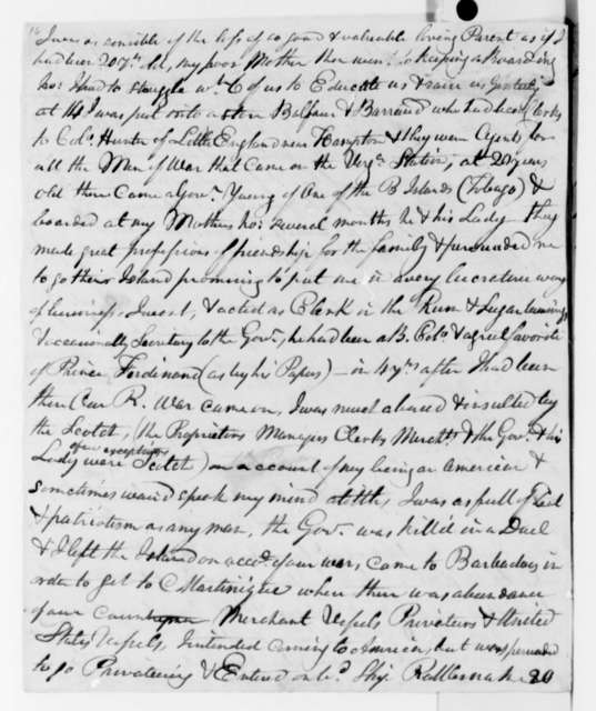 A. Walke to Thomas Jefferson, December 4, 1825